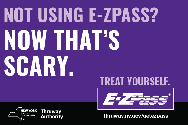 ezpass postcard ad now thats scary